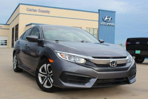 Pre-Owned 2018 Honda Civic Sedan LX WITH SUPERIOR FUEL MILEAGE AND LOW MILES